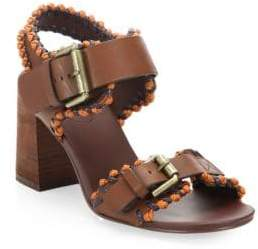 See by Chloe Romy City Leather Whipstitch Sandals
