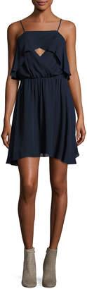 Haute Hippie Sunbird Crossover Front Silk Camisole Dress