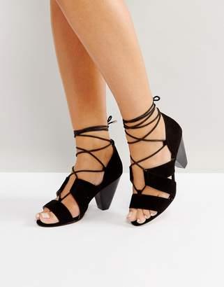 Asos DESIGN TALI Lace Up Heeled Sandals
