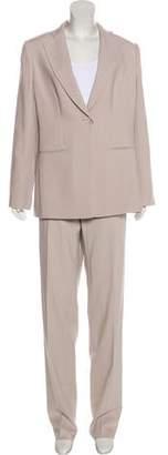 Giorgio Armani Virgin Wool Straight-Leg Pant Suit w/ Tags