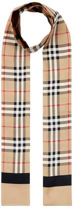 Burberry Small Reversible Printed Silk Scarf
