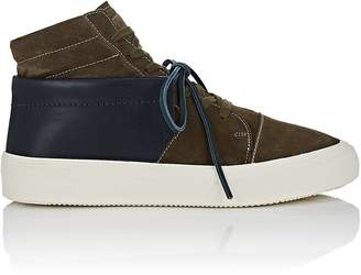 Maison Margiela Men's Leather-Overlay Suede Sneakers