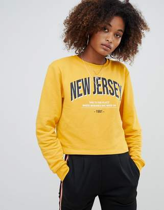 Pull&Bear New Jersey sweater in yellow