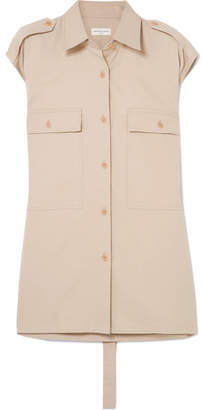 Dries Van Noten Belted Cotton-poplin Shirt - Beige