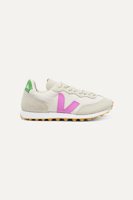Veja Net Sustain Rio Branco Rubber-trimmed Mesh And Vegan Suede Sneakers - Off-white