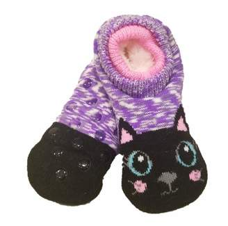 Wonder Nation Girl Furry Critter Faux Fur Slipper Socks S/M