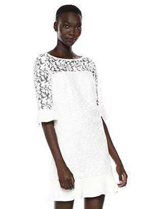 Adrianna Papell Women's Althea Embroidery Shift Dress