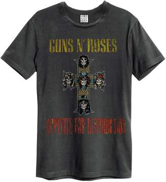 Amplified Mens Charcoal Guns N Roses Appetite For Destruction T Shirt from