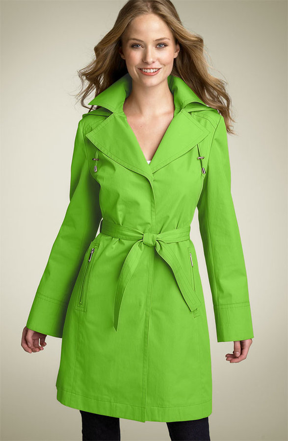 MICHAEL Michael Kors Notched Collar Trench