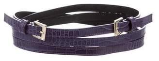 Max Mara 'S Embossed Leather Wrap Belt