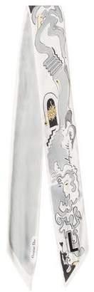 Christian Dior Labyrinth Silk Neck Scarf