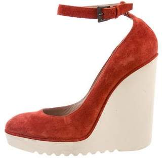 Chloé Suede Wedge Pumps