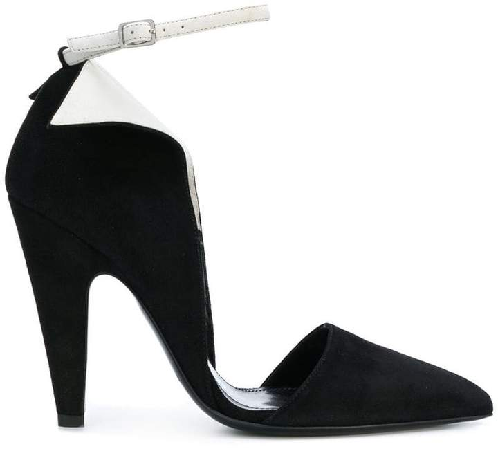 Calvin Klein 205W39nyc contrast ankle strap pumps