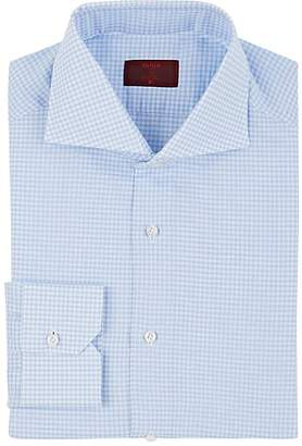 Isaia Men's Gingham Cotton-Linen Dress Shirt