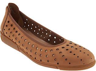 Sesto Meucci Nubuck Perforated Skimmer Shoes- Diva