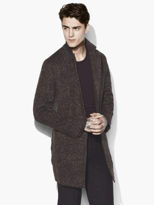 John Varvatos Notch Lapel Wool Coat