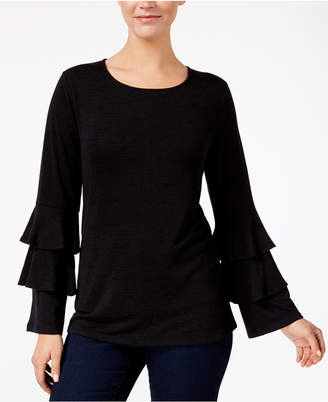 Style&Co. Style & Co Petite Ruffle-Sleeve Sweater, Created for Macy's