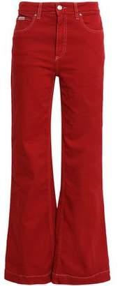 ALEXACHUNG High-rise Flared Jeans