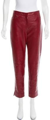Christian Dior Mid-Rise Leather Pants