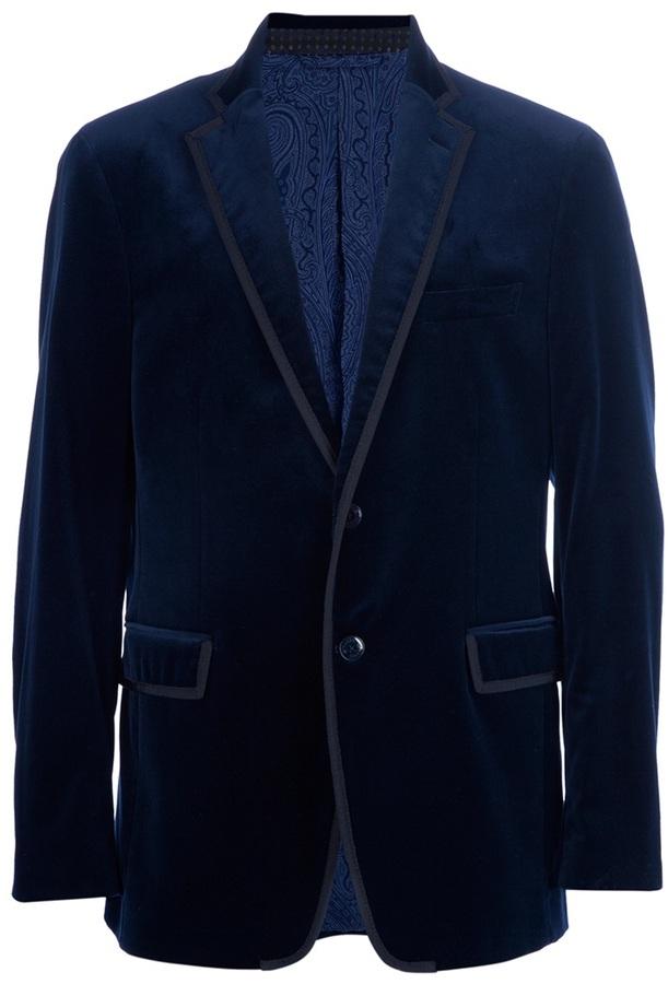 Etro velvet tuxedo blazer