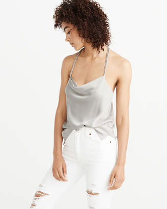 Abercrombie & Fitch Satin Cowl Neck Cami