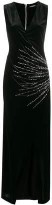 Balmain plunge neck wrap dress