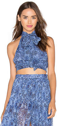MAJORELLE Taos Top in Blue $120 thestylecure.com