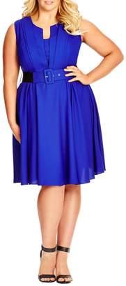 City Chic 'Vintage Veroni' Fit & Fare Dress