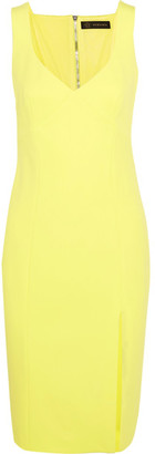 Versace - Stretch-crepe Dress - Bright yellow