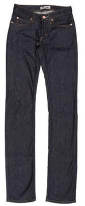Acne Studios Low-Rise Straight-Leg Jeans w/ Tags