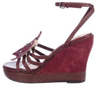 Clements Ribeiro Leather Wedge Sandals