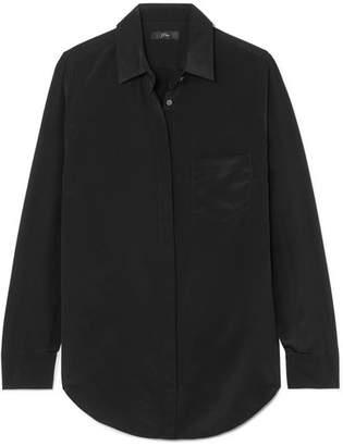 6e11cd100bf5a J.Crew Robin Silk Crepe De Chine Shirt - Black