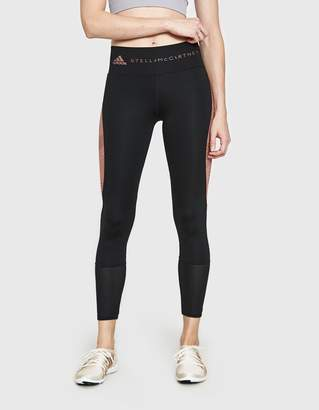 adidas by Stella McCartney Ultimate Training Tights in Black/Burnt Rose