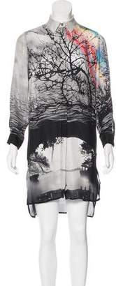 Mary Katrantzou Silk Button-Up Dress
