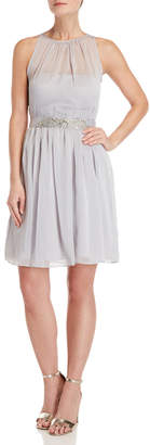Adrianna Papell Embellished Fit & Flare Dress