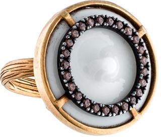 Bottega VenetaBottega Veneta Crystal Cocktail Ring