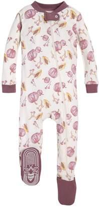 Burt's Bees Autumn Harvest Organic Baby Zip Up Footed Pajamas