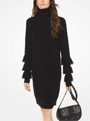 MICHAEL Michael Kors Wool-Blend Turtleneck Dress