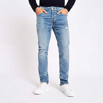 River Island Light blue Dylan slim fit jeans
