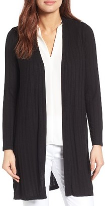 Women's Chaus Ribbed Long Cardigan $69 thestylecure.com