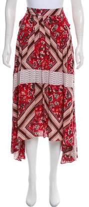 Free People Printed High-Low Skirt w/ Tags