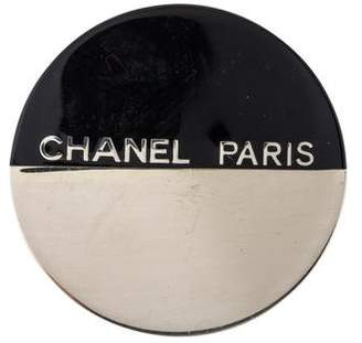 Chanel Round Resin Brooch