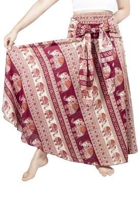 R & E Lofbaz Women's Long Hippie Bohemian Skirt Gypsy Dress Boho Asymmetric Hem Design