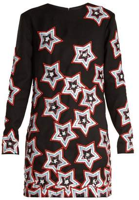 House of Holland Star Sequin Embellished Dress - Womens - Black Multi