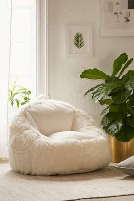 Faux Fur Electronics Storage Bean Bag Chair