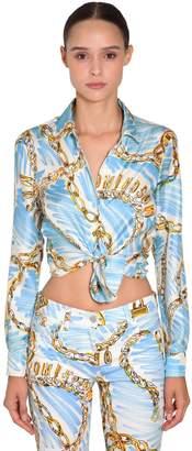 Moschino Printed Silk Twill Shirt