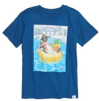 Kid Dangerous Penguin Vacation Graphic T-Shirt