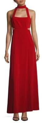 Jill Stuart Mockneck Sleeveless Cutout Gown