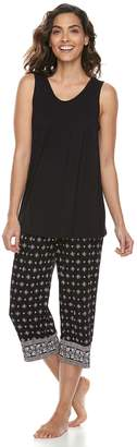 Croft & Barrow Women's Printed Tank & Capri Pajama Set