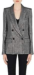 Isabel Marant Women's Denel Metallic Double-Breasted Jacket-Silver